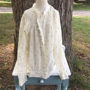 NWOT Tommy Hilfiger Women's cream star blouse XL